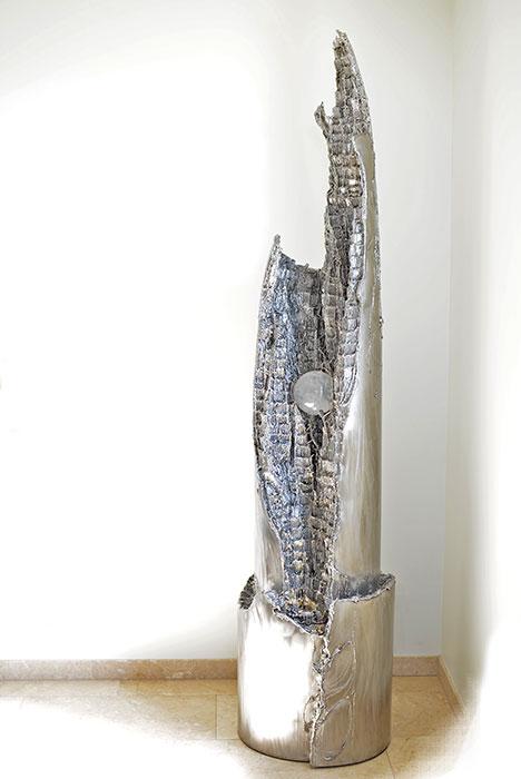 zimmerbrunnen unikate vom metall k nstler kaufen gahr. Black Bedroom Furniture Sets. Home Design Ideas